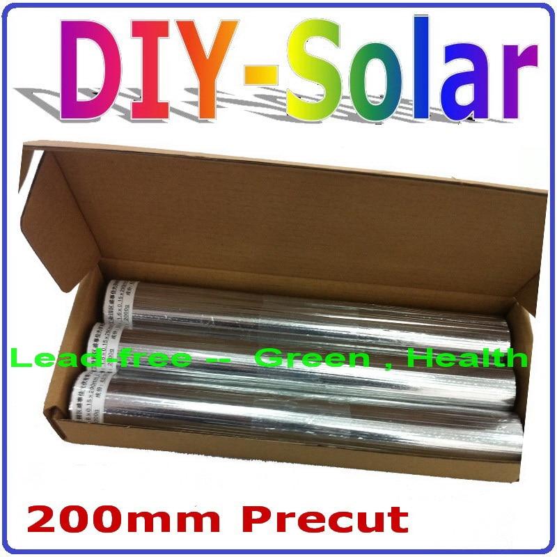 RoHS 200mm putcut sin plomo solar TAB Alambres S, precortadas tabulación Alambres, cualquier tamaño está bien, adecuado para 125 panel solar,