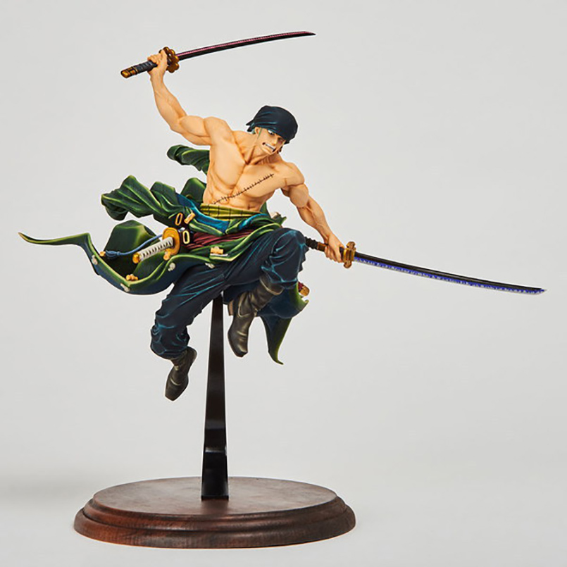 16cm Jpanese Anime One Piece Roronoa Zoro PVC Action Figure toys Battle on the top Collection Model Toys