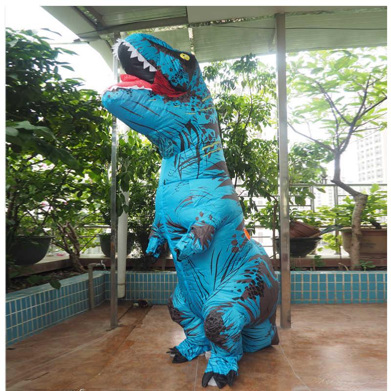 Anime COSPLAY ผู้ใหญ่ผู้ชาย T REX เครื่องแต่งกายไดโนเสาร์ Inflatable T-Rex เครื่องแต่งกาย Mascot Adultos ฮาโลวีนไดโนเสาร์สำหรับเด็กผู้หญิง