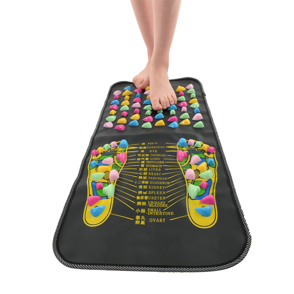 Reflexology Massage Mat Foot Stone Leg Pain To Relieve Walk Massager Mat Health Care Acupressure Pad Massageador synthia andrews acupressure and reflexology for dummies
