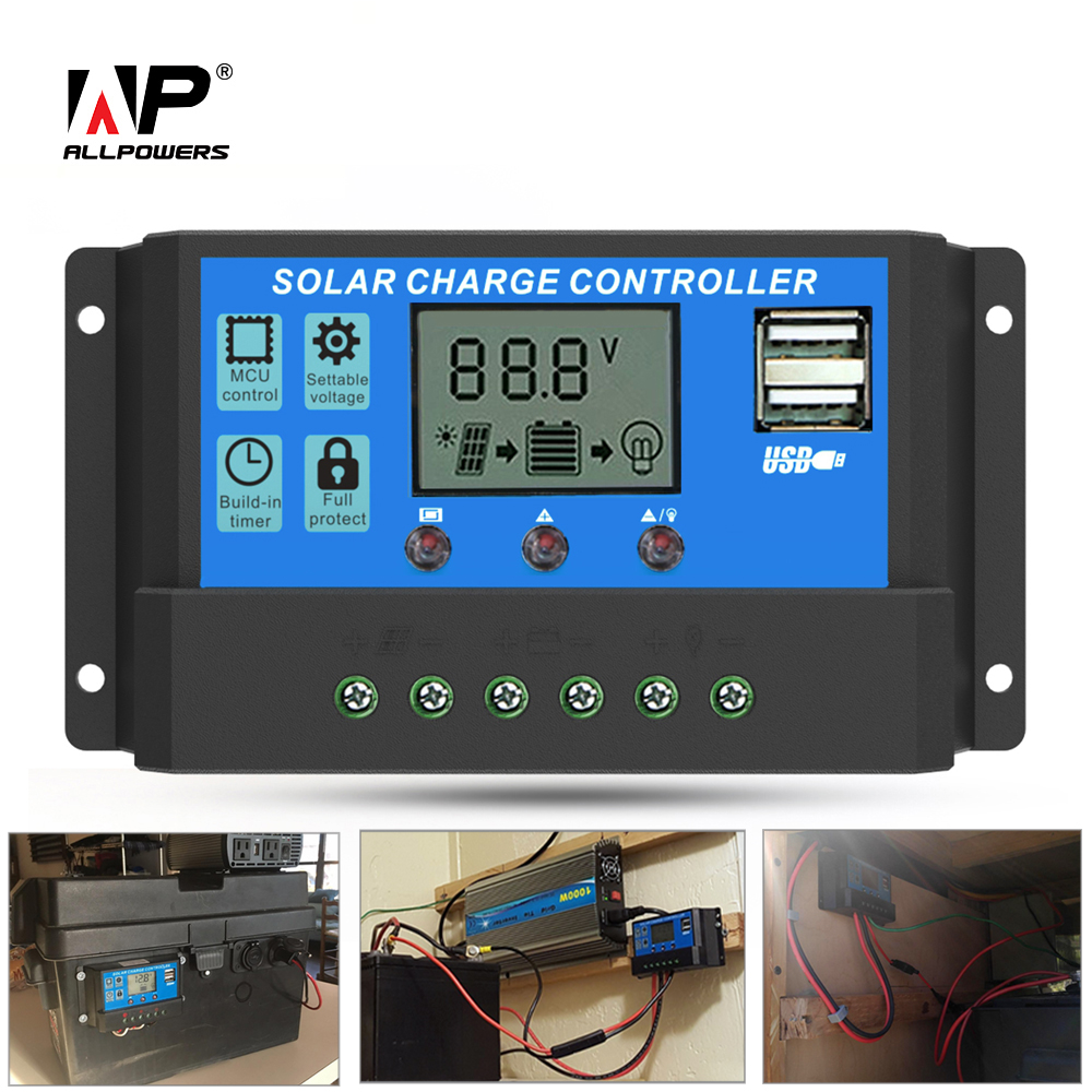 ALLPOWERS Solar Panel Inverter 20A 12V 24V Solar Panel Controller Regulator with LCD Display Advanced Chip Stable more. ...
