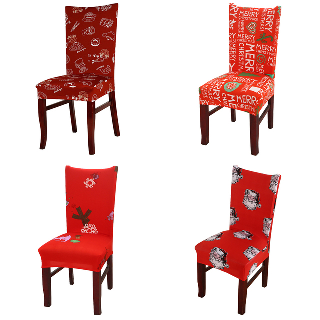 It Christmas Merr Christmas.Decoruhome Merry Christmas Chair Covers Floral Spandex Elastic Red Santa Claus Cake Stretch Modern Family Decoration Seat Case In Chair Cover From