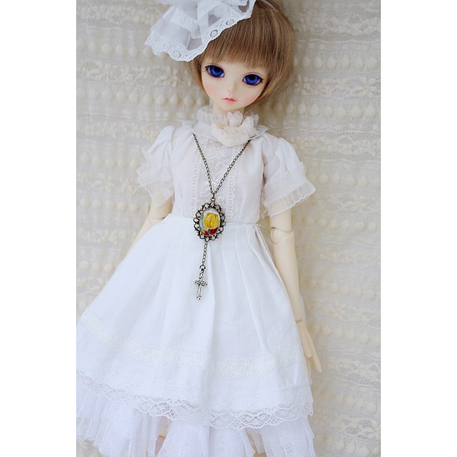 [wamami] 700# 6pcs White Dress 1/3 SD DZ DOD AOD BJD Dollfie [wamami] 649 england style coat suit outfit clothes for 1 3 sd dz dod boy bjd