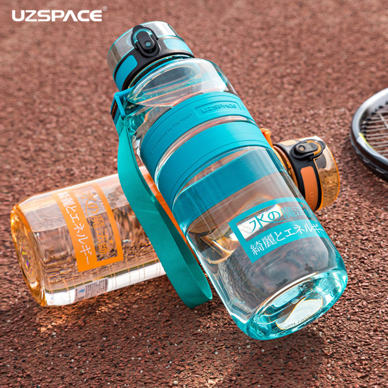 UZSPACE 1500ml Water Bottles Negative ion Care Portable Outdoor Sports Travel Hiking Drink Kettle Eco-friendly Tritan(bpa Free)