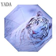 YADA Dropshipping Charms Tiger Pattern Umbrella Rain Women uv High Quality For Womens Windproof Folding Umbrellas YS115