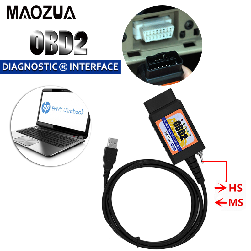USB ELM327 for Ford MZ327 V1.5 modified switch ELMconfig CH340+25K80 chip HS-CAN / MS-CAN open hidden for ford scanner