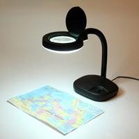 Led拡大鏡レンズガラス柔軟なブックナイトライト拡大鏡デスクテーブルランプ用学生役� ��時計ワーカー