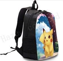 Pocket Monster Pokmon Pikachu Polyester Backpack Shoulder Bags