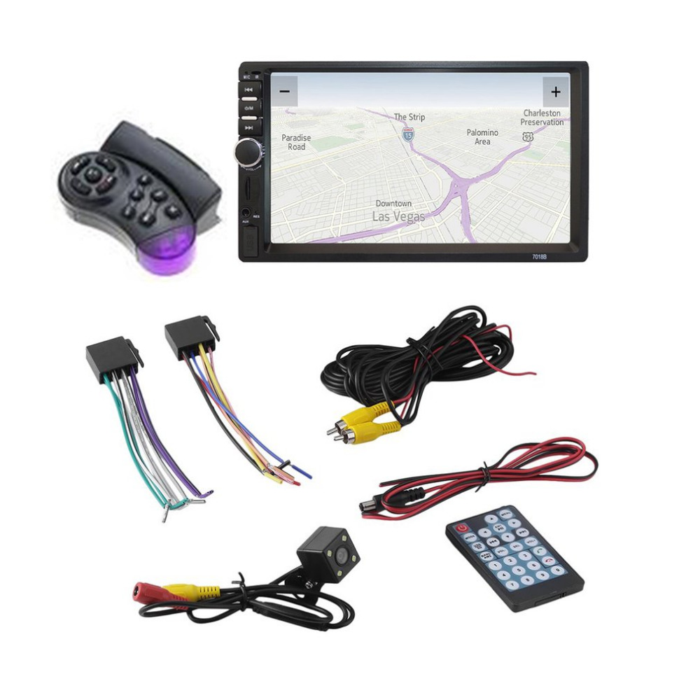 7 inch HD Touch Screen Car MP3 MP5 Player Bluetooth In Dash 2 Din Car Stereo Radio FM Function AUX USB Support TF Card Hot 12v 4 1 inch hd bluetooth car fm radio stereo mp3 mp5 lcd player steering wheel remote support usb tf card reader hands free