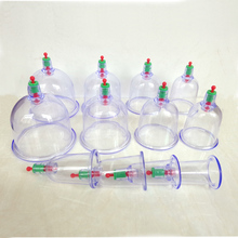 12pcs/lot Simple packed single cups chinese medical cupping sets device 12 Vacuum Body Cupping Set hijama cans healthy massage