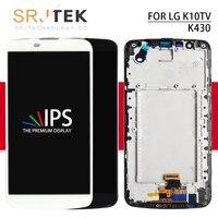 Srjtek For LG K430DS LCD K10TV K430TV K430dsY Touch Screen Frame Digitizer Matrix LTE K430 LCD K10 For LG K420N Display K410