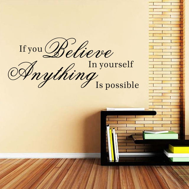 Inspirational Wall Words If You Believe In Yourself,Anything Is ...