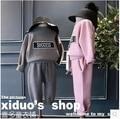 2016 новые зимние девушки Chaofan детей буквы случайные спортивная куртка + брюки платья Европейские товары бесплатная доставка