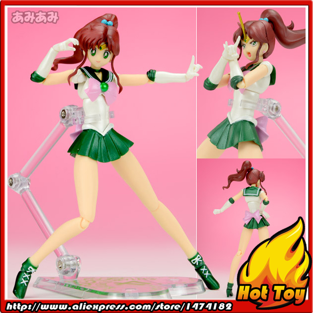 100% Original BANDAI Tamashii Nations S.H.Figuarts (SHF) Action Figure - Sailor Jupiter from Pretty Guardian Sailor Moon100% Original BANDAI Tamashii Nations S.H.Figuarts (SHF) Action Figure - Sailor Jupiter from Pretty Guardian Sailor Moon
