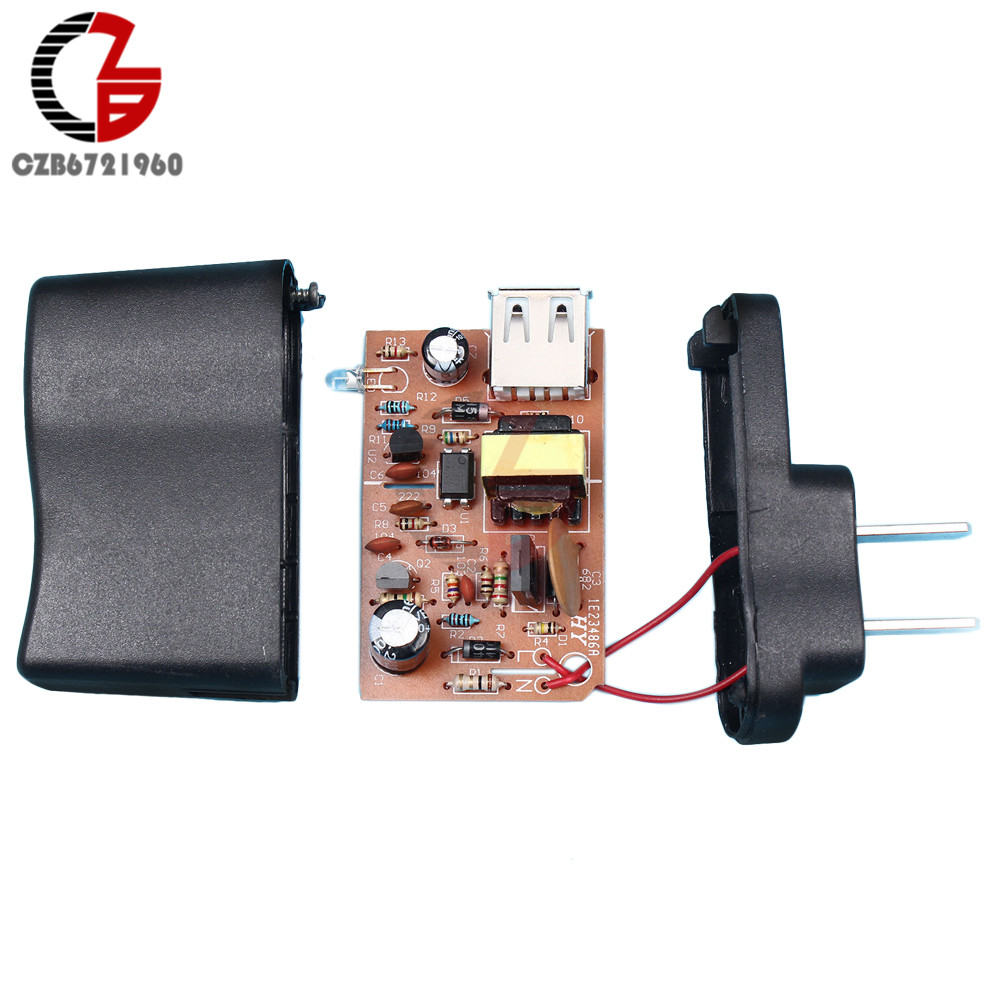 DIY Kits AC-DC <font><b>220V</b></font> <font><b>to</b></font> <font><b>5V</b></font> 800mA Power <font><b>Adapter</b></font> Supply Converter Transformer Charging Charger for Mobile Power Bank LED Strip image