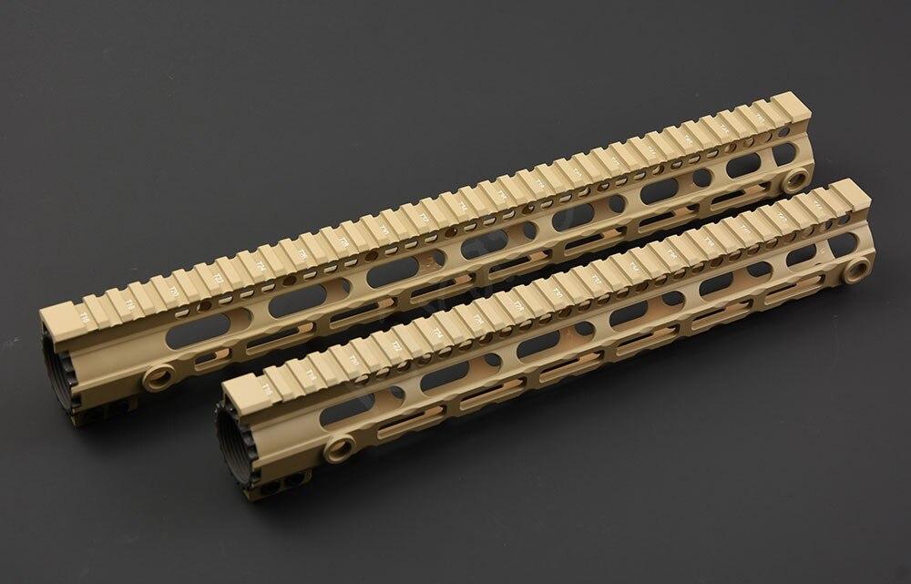 Tactique ar 15 M-LOK 20mm picatinny 12 pouces 15 pouces rail libre flotteur handguard avec écharpe qd pivote adaptateur AEG