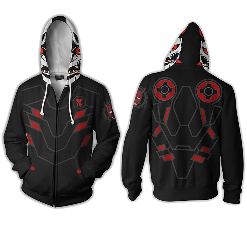 Genji Hoodie OW 3D Print Cosplay Evil Spirits Jackets Full Zip Hoodies Cool Pullover Coat  Unisex Jumper Sweatshirts