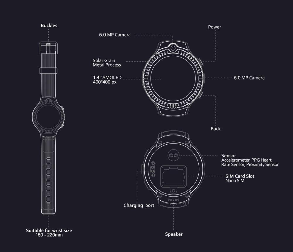 Zeblaze THOR 4 Dual 5.0MP Camera Smart Watch 4G GPS GLONASS Wifi Smartwatches 1GB RAM+16GB ROM Mic Speaker Answer Dial Call 2019 (12)