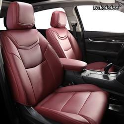 Kokololee Custom Lederen Auto Seat Cover Voor Nissan X-Trail Qashqai Sylphy Geniss Livina Maart Tiida Teana Automobiles Seat cover