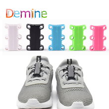 1 Pair Shoelaces Buckles Strong Magnetic Quick Easy for Sneakers Sports Shoes Closure Fashion Child Adult No Tie Shoelace Buckle