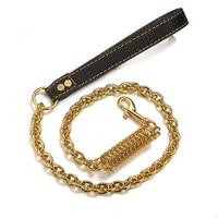 Gold Dog Collar Slip Choker Stainless Steel 15mm Big Dog Puppy Necklace Choke Chain Training Collar Cuban Link for Big Small Dog
