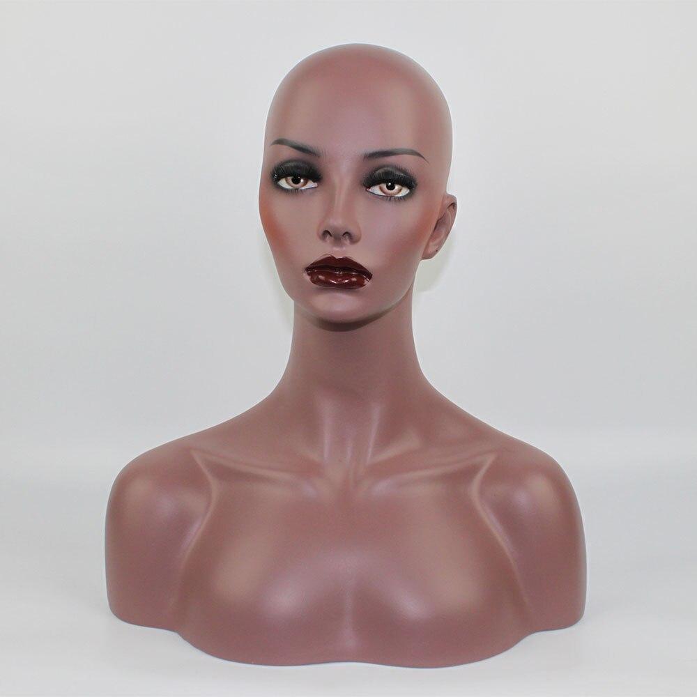 Haute Qualité En Fiber De Verre Réaliste Femelle Mannequin Mannequin Tête Buste Pour Perruques Chapeau Lunettes De Soleil Bijoux Affichage