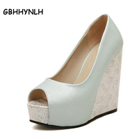 New 2015 Summer Fashion Women Wedge Sandals Brand Rome Casual Fashion Platforms Ultra High Heels Open