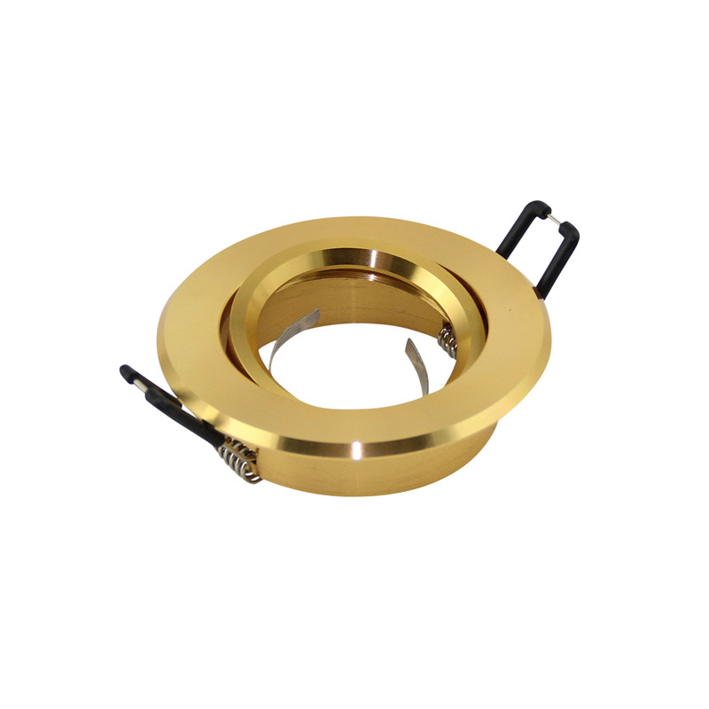 Factory LED Golden Balck White Silver Round Recessed Led Ceiling Light Fixture Holders MR16 GU10 LED Spot Lamp Frame