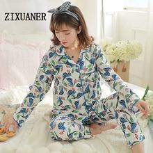 ZIXUANER Doux Soins De Maternité Chemises de Nuit Pleine Pyjamas pour femmes Enceintes Allaitement de Nuit Coton Détente Vêtements Ensemble