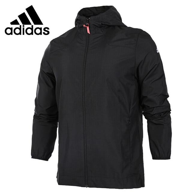 US $118.0  Original Neue Ankunft 2017 Adidas Originale Trf Serie Aop männer jacke Kapuze Sport in Original Neue Ankunft 2017 Adidas Originale Trf