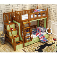 DS 601 все твердой древесины с безопасности забор хранения лестницы лестница кабинет розовый белый gree детская мебель для спальни двухъярусна