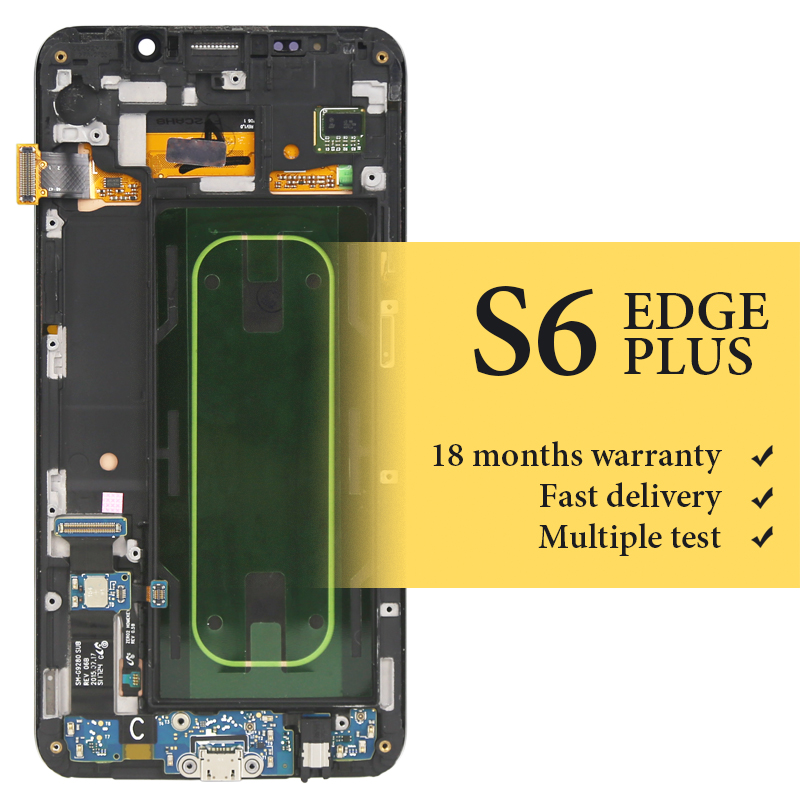 New For Samsung S6 edge plus G928f lcd screen with frame OEM quality for mobile phone replacement display 5.7 inch lcd screenNew For Samsung S6 edge plus G928f lcd screen with frame OEM quality for mobile phone replacement display 5.7 inch lcd screen
