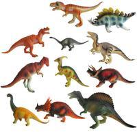 12Pcs Set A Large Dinosaur Toys Model Animal 15 18cm Children S Gift PVC Material Simulation