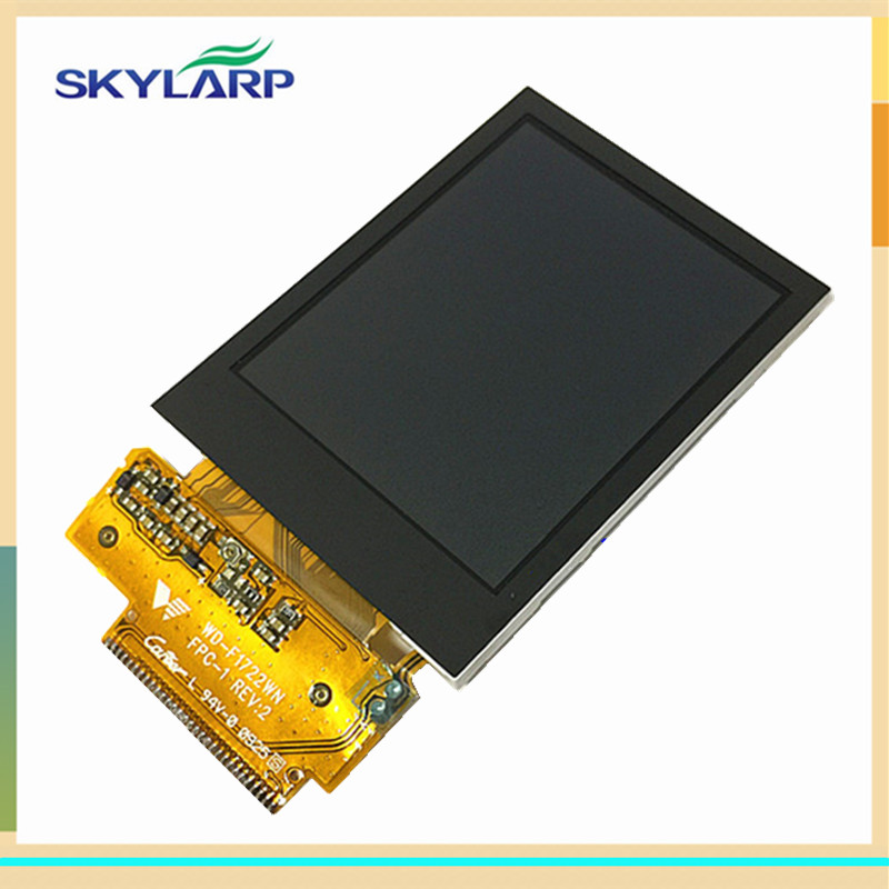 skylarpu 2.2 inch WD-F1722WN FPC-1 REV:2 LCD for Garmin edge 705 GPS Bike Computer LCD display screen panel (without touch) skylarpu 2 2 inch lcd screen module replacement for lq022b8ud05 lq022b8ud04 for garmin gps without touch