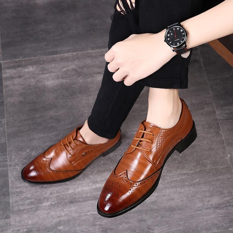 Мужские туфли-оксфорды, официальная повседневная обувь, Мужская Летняя обувь, большой размер 48, мужская повседневная обувь на шнуровке, кра...