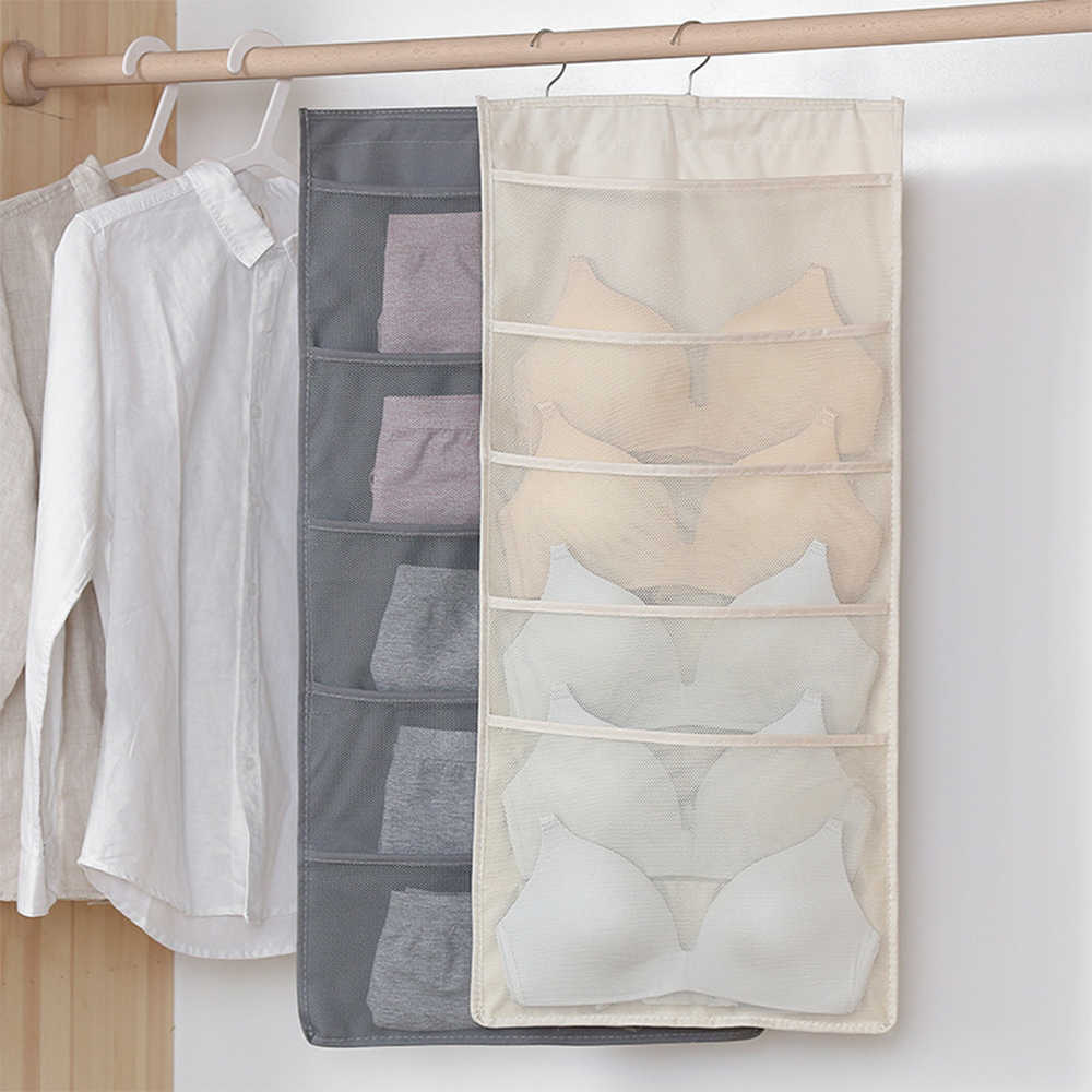 LASPERAL Multifunction High Quality Oxford Cloth Underwear Bra Hanging Double-Sided Fabric Storage Bag Sorting hanger organizer