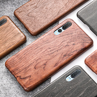 SanCore Original Real Wood Cover Phone Shell for Huawei P20 Lite P20 PRO Case Natural Wooden Pattern Walnut Protective Case