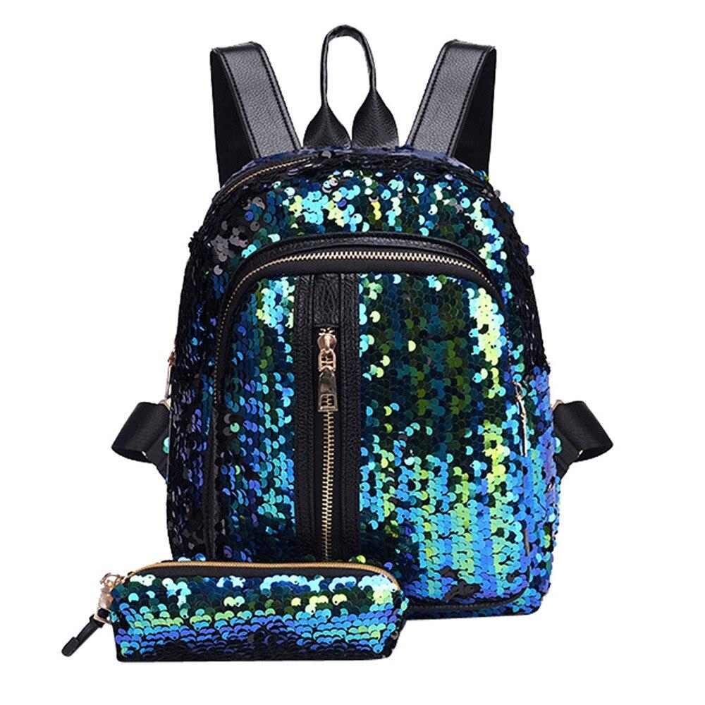 Fashion Girl  Casual Tassel Backpack Female Designer Bag  Sequins School Bag Backpack Anti ThefTravel Clutch #YLFashion Girl  Casual Tassel Backpack Female Designer Bag  Sequins School Bag Backpack Anti ThefTravel Clutch #YL