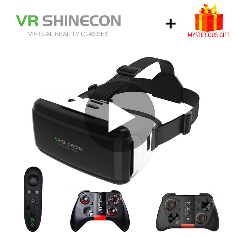 VR Shinecon G06 Viar gafas de realidad Virtual 3D para iPhone Android Smartphone auriculares casco gafas estuche lentes Set