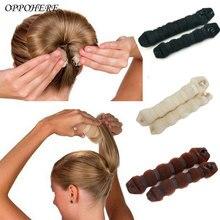 2Pcs Set 1 Large 1 Small Magic Hair Bun Wrap Hairpin Bun Maker Flaxen Hair Ring