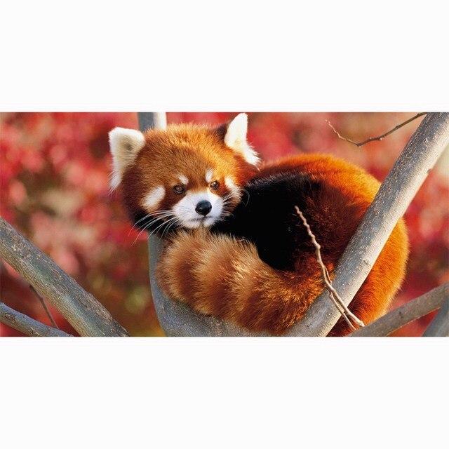 Sport Handtuch Rot Panda 140x70 Cm Schwimmen Reise Gym Handtuch