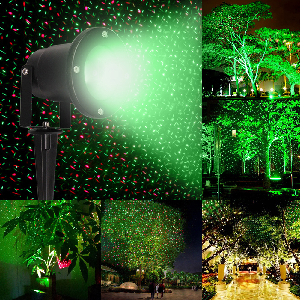 12v waterproof outdoor garden landscape lighting rgb laser stage light lamp flying firefly light projector for christmas party - Laser Projector Christmas Lights