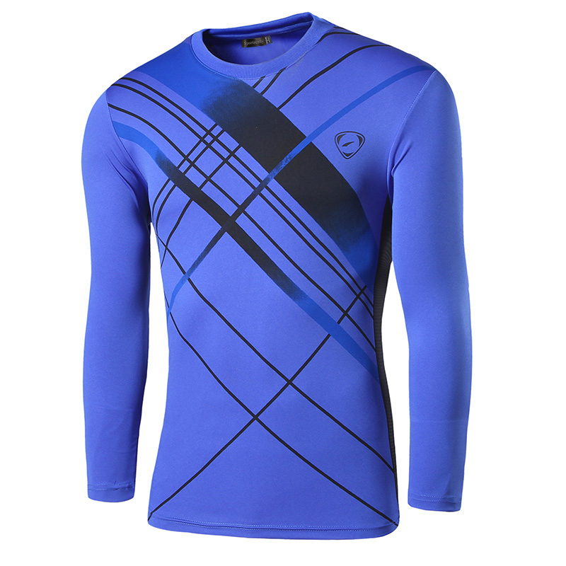 Sportrendy Otoño e Invierno Hombres Camisetas de manga larga casual - Ropa de hombre