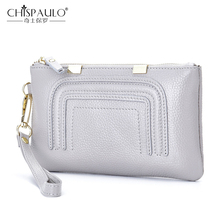 2017 Women Genuine Leather Wallets High Quality Zipper Ladies Coin Purse Female Clutch Bag Money Credit Card Holder Phone Bags