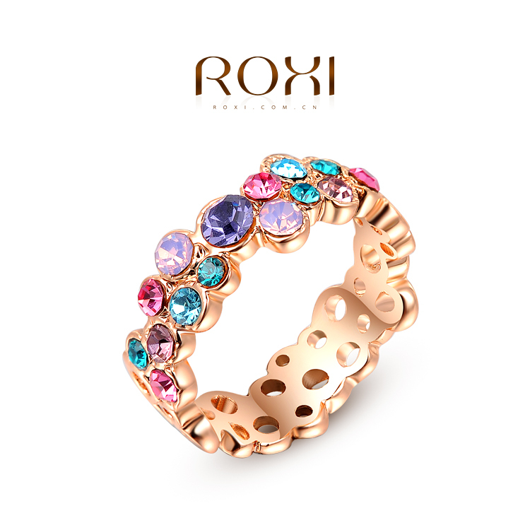 ROXI exquisite rose golden fresh Butterfly rings factory price fashion jewelry high quality newest arrival Christmas