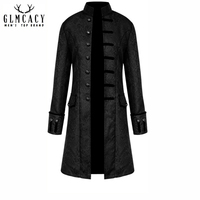 Mens Brocade Jacket Gothic Steampunk Vintage Victorian Overcoat Male Vintage Jacket