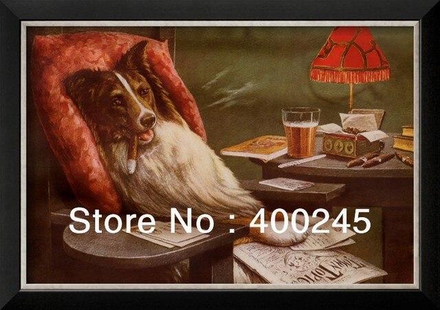 Pintura a óleo animal cão cães modern art home deco um bacharel by ...