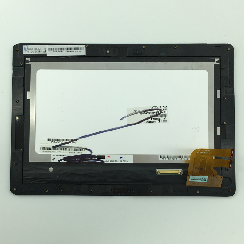 used parts LCD Display Glass Panel Touch Screen Digitizer Assembly frame For Asus Transformer Pad TF300 TF300TL 5158N FPC-1  for asus transformer pad tf700 v0 1 black full lcd display monitor with digitizer touch panel screen glass assembly with frame