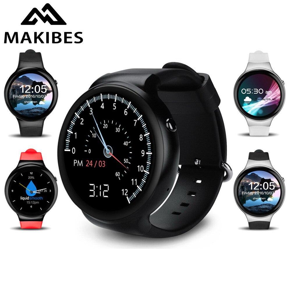 imágenes para Makibes hablar i4 smart watch android 5.1 mtk6580 1 gb/16 gb smart watch mp3 del teléfono gps wifi 3g bluetooth 4.0 Smartwatch