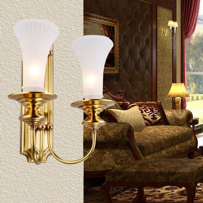 Itálie Venkovské vnitřní nástěnné osvětlení nástěnné svítidla vintage měděná lampa restaurace vila ložnice studovna zrcadlová skleněná zeď lampy abajur